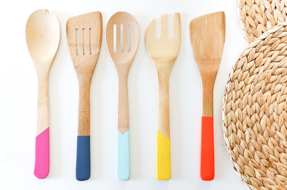 Kochbesteck  DIY buntes Kochbesteck selber machen - todayis.de