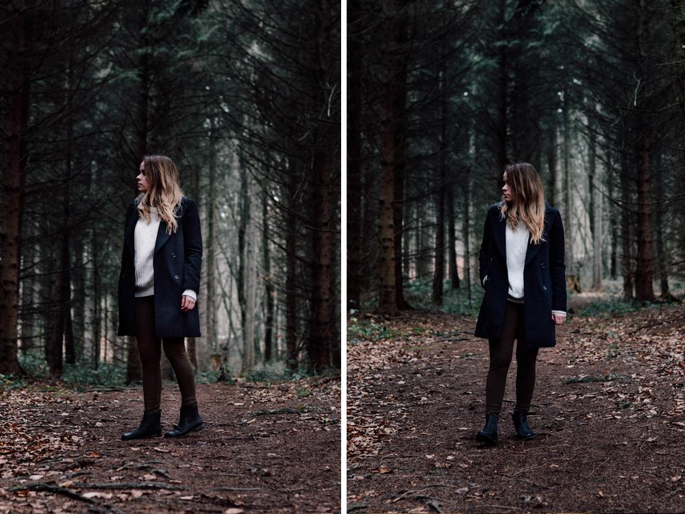 Pullover aus Strick Wald Mantel Zara Outdoor Wollmantel H&M