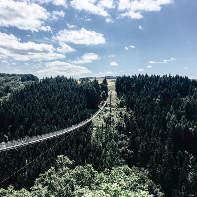 We visited the Geierley hanging rope bridge in sunday Buthellip