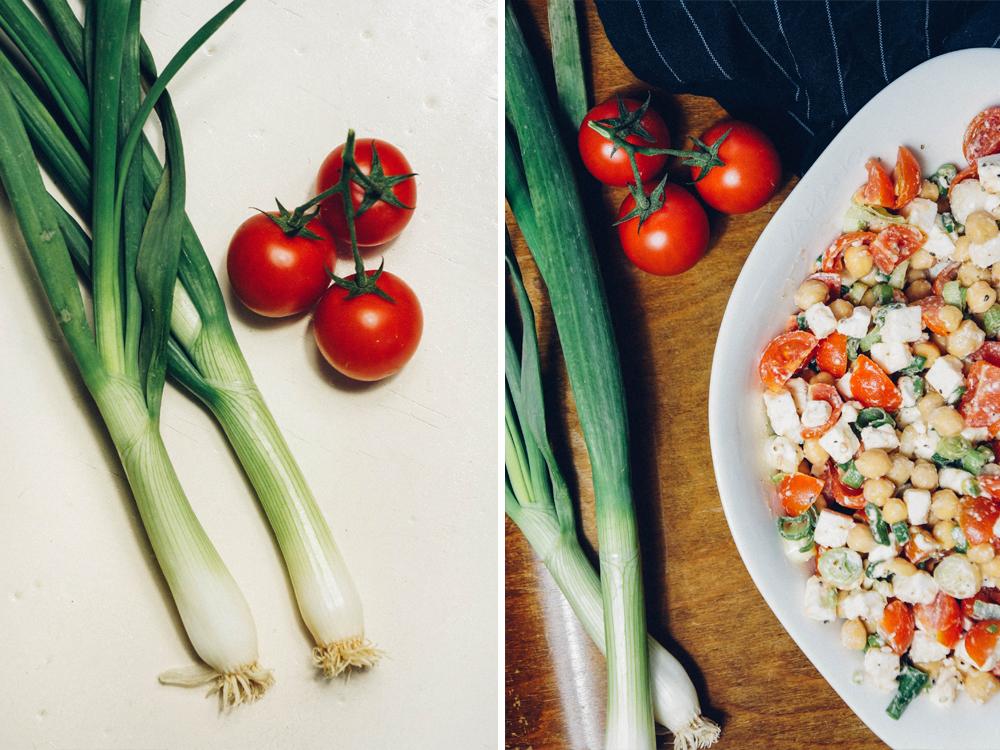 Tomaten Feta Kichererbsensalat Salat Kichererbsen