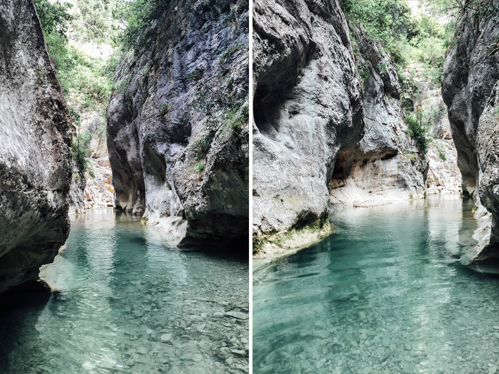 Gorge Du Toulourenc Canyon Frankreich Provence