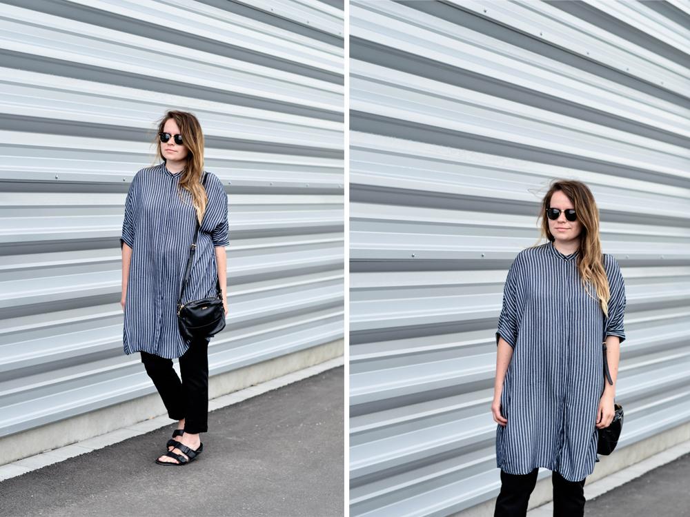 Zara oversize überlange Bluse Hemd Hemdkleid