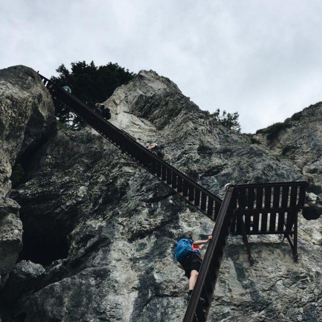 Das letzte Stck Klettersteig war zwar nicht mehr ganz sohellip