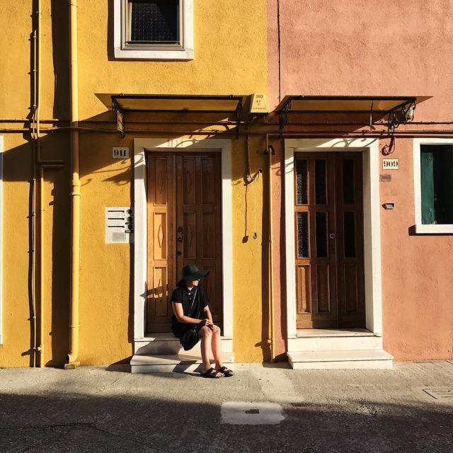 A black ninja in Burano! burano italy travelgirl travelgram travelitalyhellip