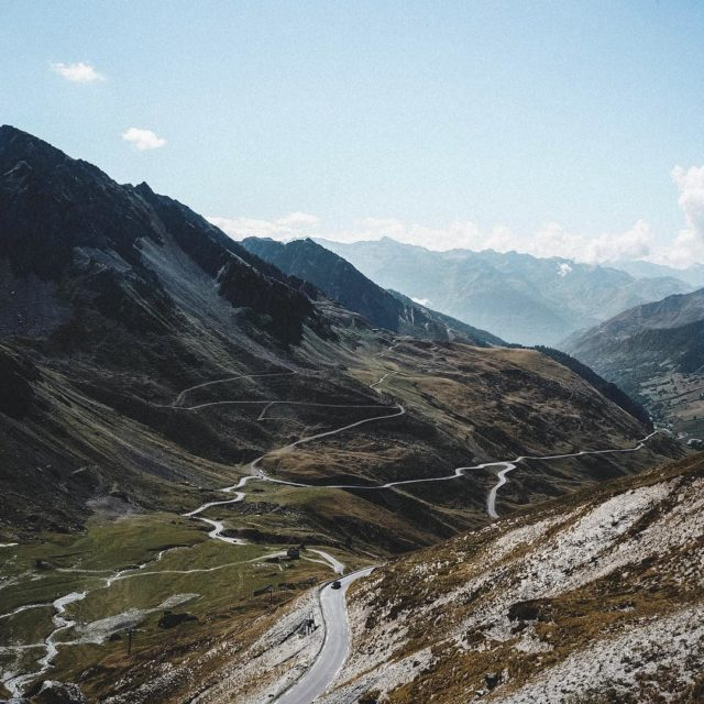 Roads winding up or down the Col du Tourmalet coldutourmalethellip