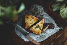 Fladenpizza Pizza einfache Pizza Partybrot Fladen belegt vegetariesch
